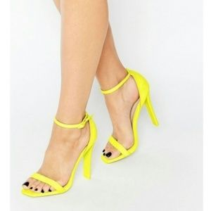 ASOS Yellow Harness Heeled Sandals Size 9